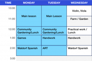 Fourth Grade Weekly Schedule